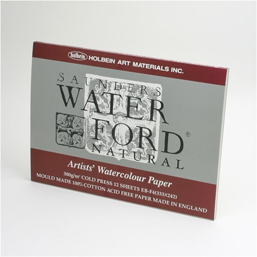 Holbein Waterford watercolor paper Natural block F4 EB-F4