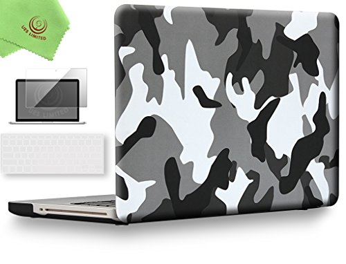UESWILL 3in1 Unique Pattern Solid Hard Shell Case Cover for MacBook Pro 13