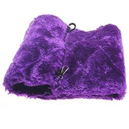 Vktech® Plush Snuggle Bird Hammock Hanging Snuggle Cave Happy Hut Bird Parrot Hideaway Size M (23.5*22cm) (Purple)