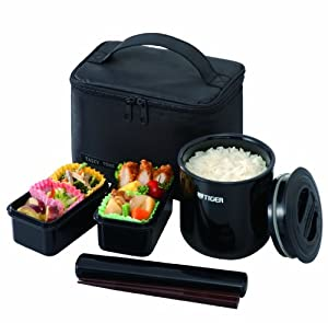 Amazon Com Tiger Lwy E046 Thermal Lunch Box Black