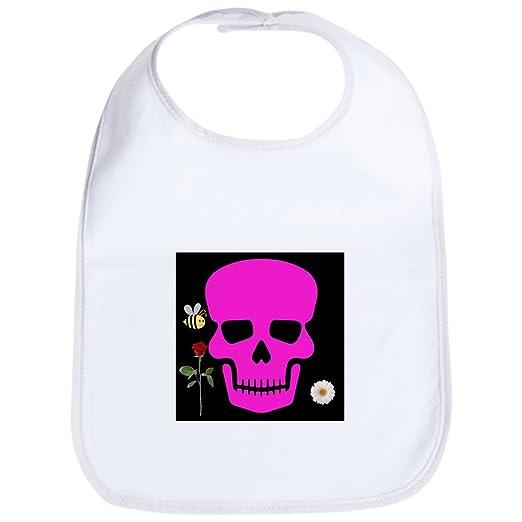 e94f12597 Amazon.com: CafePress - Abby Skull Bib - Cute Cloth Baby Bib, Toddler Bib:  Clothing