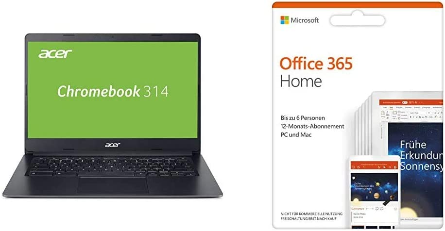 Acer Chromebook 314 Black Microsoft Office 365 Home Computers Accessories