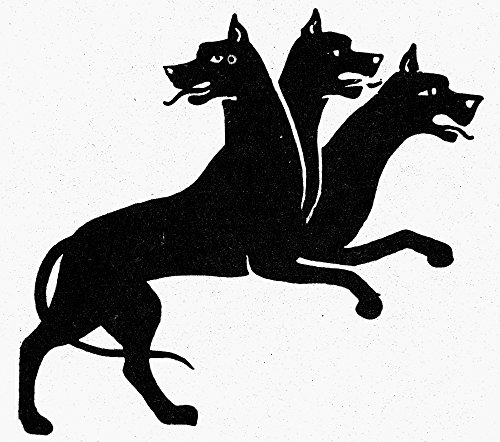 Posterazzi GLP469052LARGE Poster Print Collection Mythology: Cerberus./Three-Headed Dog Of Greek Mythology Symbol Of Vigilance. Poster Print By, (24 X 36), -