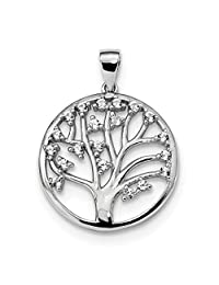 925 Sterling Silver Created White Sapphire Tree Of Life Pendant Charm Necklace Outdoor Nature Fine Jewelry For Women Gift Set