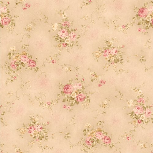 brewster-436-66405-carolina-pink-rose-bouquet-wallpaper-pink