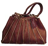 La Gioe di Toscana Hobo Handbag, Leather, Bronze
