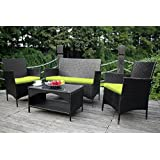 Spend more time outdoors with our essential Merax Outdoor Rattan Wicker Set. Complete with four pieces, this patio set allows for yourself, family members and guests to have a change of scenery from the typical living room setting, enjoy the great ou...
