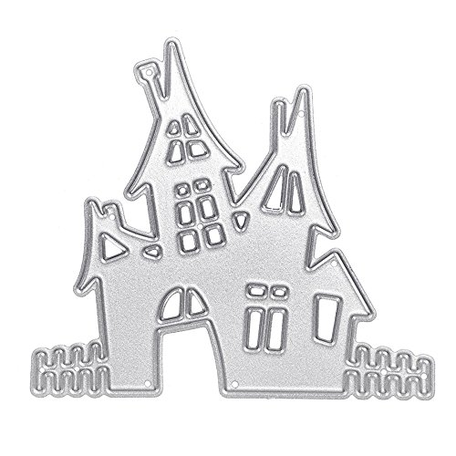 Hot Sales!! ZOMUSA DIY Cutting Dies Metal Stencils Embossing For Album Paper Card Scrapbooking Art Craft Gift (R) (Home Chipboard)