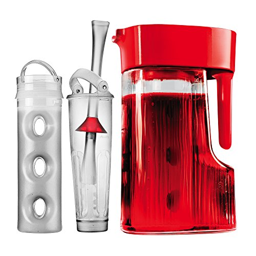 Primula Flavor Now 2.7-Quart Pitcher with Instant Infuser, Flavor Wand and Chill Core, Cherry -