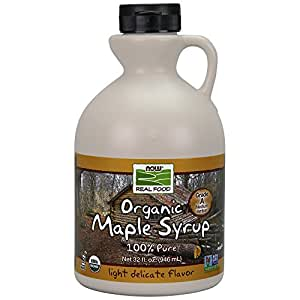 NOW Foods Organic Maple Syrup,Grade A Amber Color, 32-Ounce