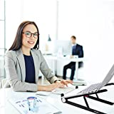 Laptop Stand, Kavalan Portable Desktop Light Weight Notebook Holder, Adjustable Eye-Level Ergonomic Height Design for MacBook Pro Air, Chromebook and More - Storage Bag Included