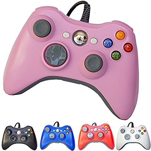 PomeMall USB Wired Game Pad Controller for Xbox 360, Windows 7 (X86), Windows 8 (X86) (Pink) - Xbox 360 Usb Headset