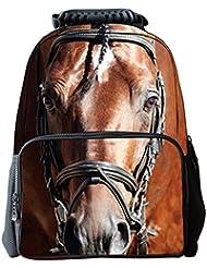 YOURNELO Horse Women Backpack Satchel Boy Girl Bag Rucksack
