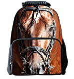 YOURNELO Horse Women Backpack Satchel Boy Girl Bag Rucksack