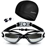 #1 TOP RATED SWIM GOGGLES Atelic® Swimming Goggles Equipment Anti Fog UV Protection Triathlon Swim Goggles with Free Protection Case for Adult Men Women Youth Kids Child