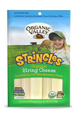 Organic Valley, Organic Skim Milk Mozzarella Stringles, 1 oz, 6 Count