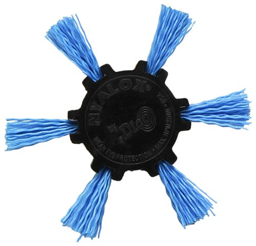 Dico Products 7200039 Nylox Flap Brush 4' 240 Grit, Blue