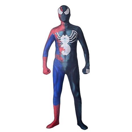 WEDSGTV Disfraz De Spiderman Adultos Niños Spandex Disfraz ...