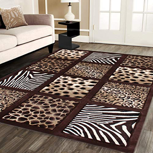 Modern Area Rug Animal Prints 8 Ft. X 10 Ft. 6 in. Design # S 251 Chocolate