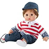 """Gotz Boy Muffin 13"""" Soft Body Baby Doll with Brown Hair and Brown Eyes for Ages 18 Months +"""