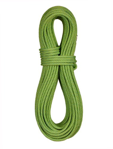 (BlueWater Ropes 9mm Canyonator Low Elongation Canyoneering Rope (Green, 65M) )