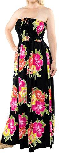 LA LEELA para Mujer de la Tarde de la Falda Maxi Vestido Tubo de Correas de Desgaste de la Playa del Traje de baño Traje de baño Encubrimiento Rosa_i609