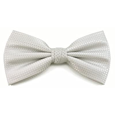 Absolute Stores Boys Silver Woven Like Band Bow Tie