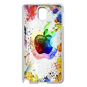 Colorful Apple Logo Drawing Samsung Galaxy Note 3 Cell Phone Case White Exquisite gift (SA_513664)