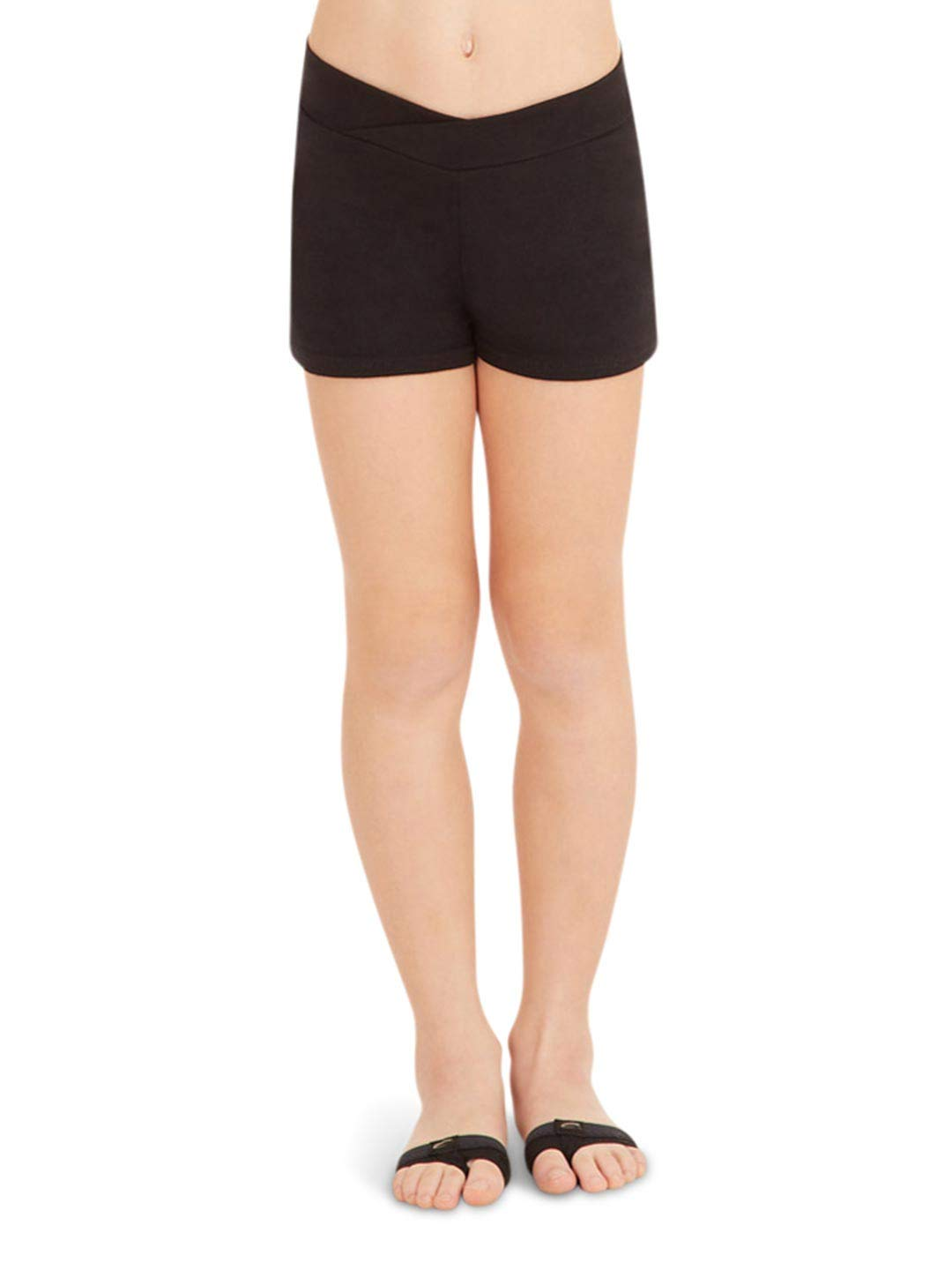 Capezio Big Girls' Boy Short,Black,M (8-10)