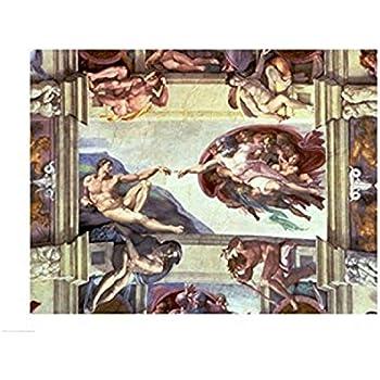Michelangelo Arte Foto impresión Poster Regalo David Capilla Sixtina