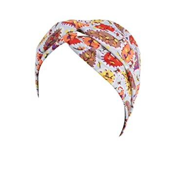 Amazon.com   Headbands for Women Wide Headwear Ladies Boho Floral Sports  Head Warp Hair Band Elastic (Blue)   Beauty a02f3e2985e