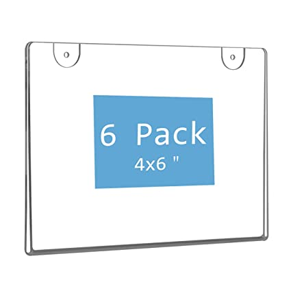 Office & School Supplies Arylic Landscape Indoor Vertical Horizontal Wall Mounted Info Paper Tag Label Cover Sign Holder Case Door Signage Display Frame Card Holder & Note Holder