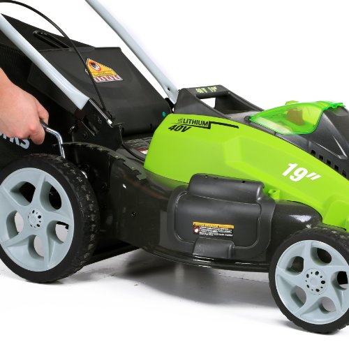 GreenWorks 25223 G-MAX 40V 19-Inch Cordless Lawn Mower, (1) 4Ah (1) 2Ah Batteries and Charger Included