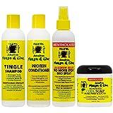 Jamaican Mango & Lime Cooling Scalp Care 4-piece 'Set' (Shampoo, Conditioner, Maximum Relief Spray 8 oz, Cool Scalp Braid and Twist & Loc Gel )