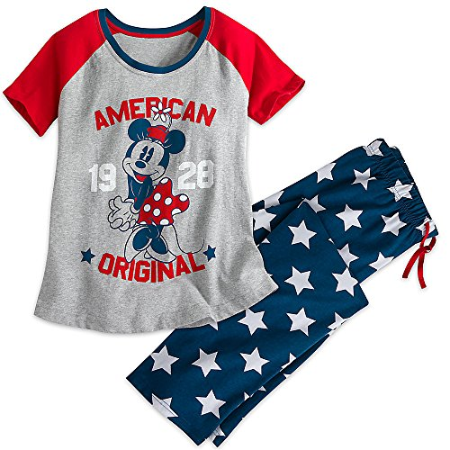 disney-minnie-mouse-americana-pajama-set-for-women-size-ladies-l