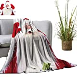 YOYI Home Fashion Blanket Christmas Theme Santa Claus Bowing Something from his arms