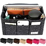 Bridawn Felt Handbag Organizer Purse Insert Bag Neverfull Tote Insert 3MM Thickness