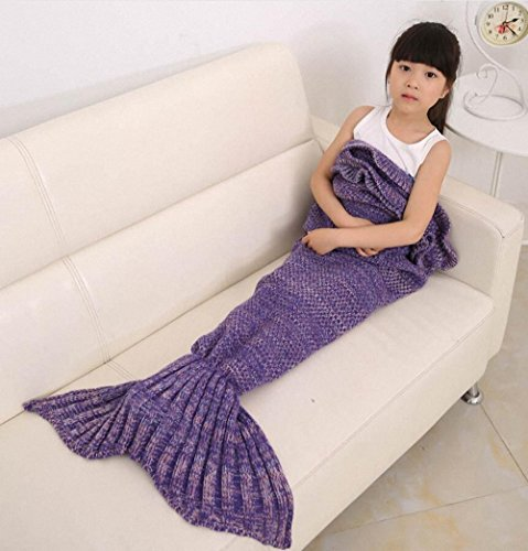 Hughapy® Mermaid Blanket Kids Knitted Sleeping