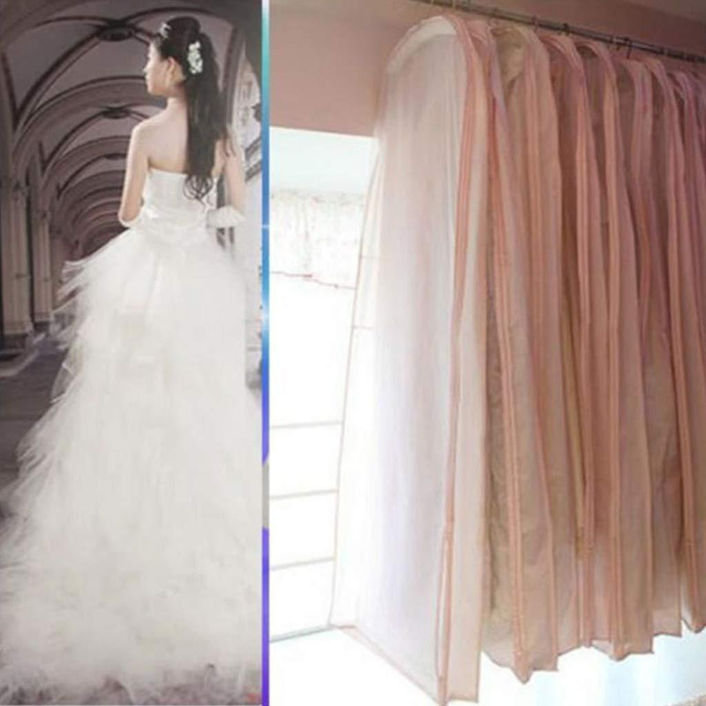 grande WuLi77 per abiti da sera antipolvere 150 cm Borsa porta abiti da sposa con cerniera