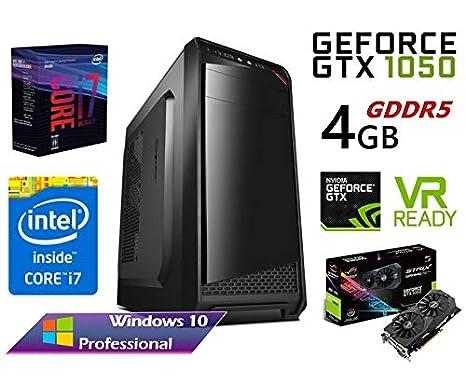 PC Ordenador SOBREMESA Intel Core i7 up 3,06Ghz x 4 Quad Core | 32GB RAM | Gráfica Nvidia GTX 1050Ti 4GB Gaming | Disco SSD 480GB + 1TB HDD | WiFi | ...