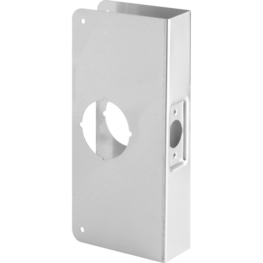 Defender Security U 9552 1-3/4-Inch Thick by 2-3/4-Inch Backset 2-1/8-Inch Bore Recessed Door Rein forcer, Stainless Steel