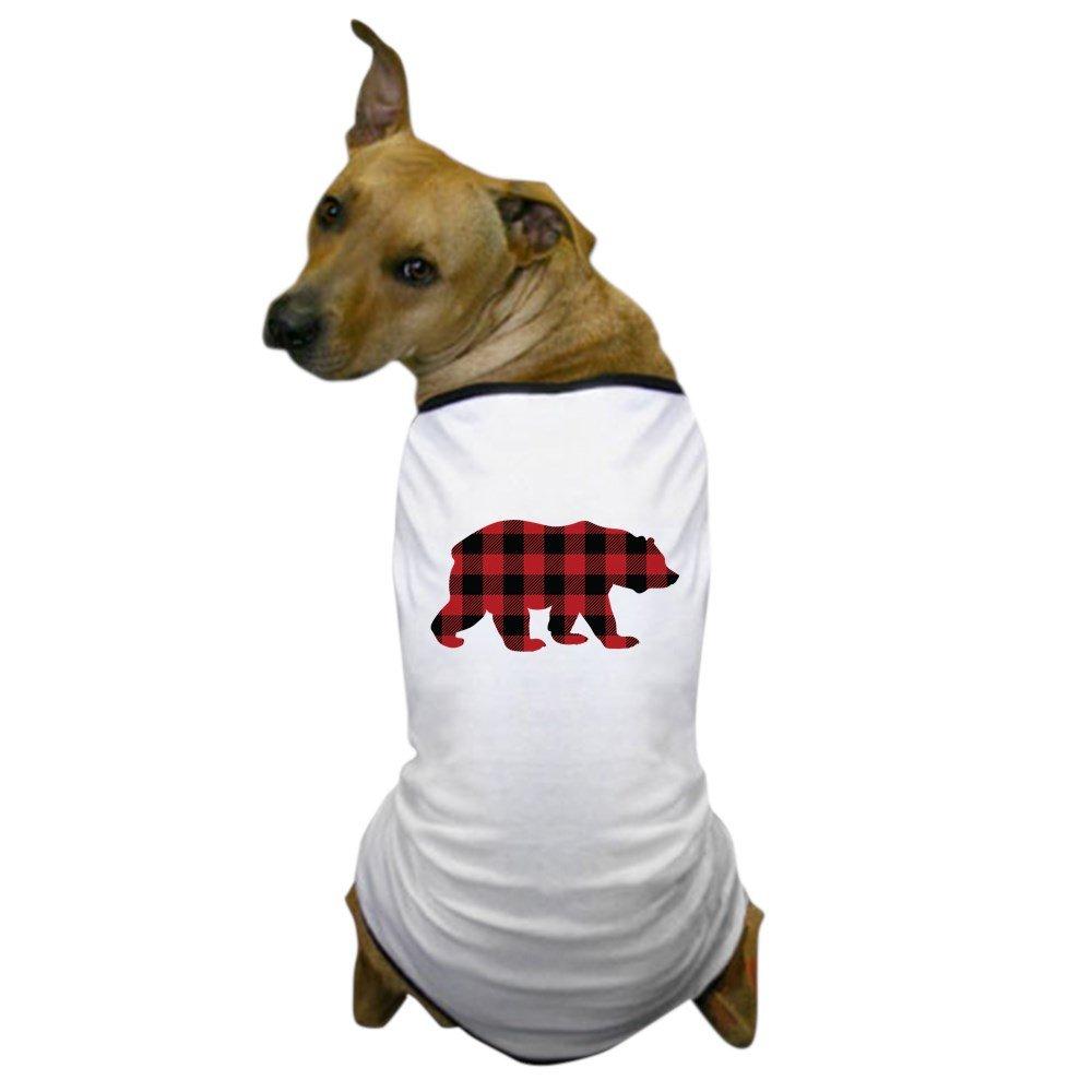 CafePress Buffalo Plaid Bear - Dog T-Shirt, Pet Clothing, Funny Dog Costume