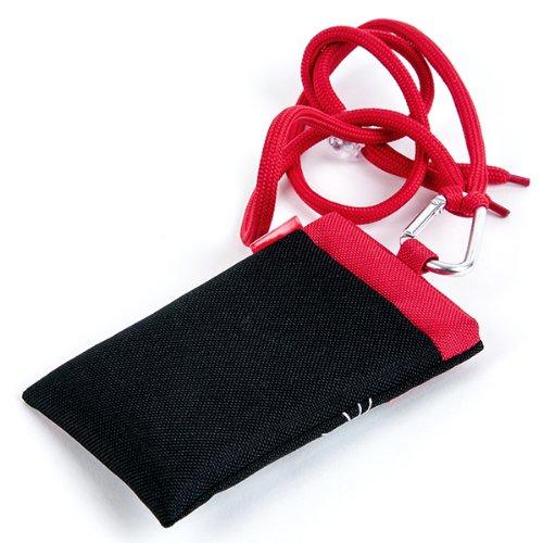 NFE² Jugendliches Leinen Etui schwarz - rot für Apple iPhone 6