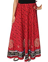 Maple Clothing Indian Long Skirt Cotton Block Printed Womens Designer Clothes