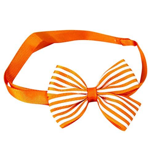 Basic Pet Collar Adjustable Striped Bow Tie Simple Classic Necklace for Small Dogs,Cats (E)