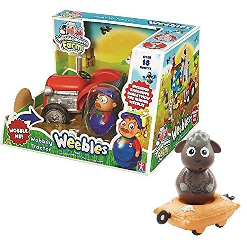Weebledown Farm Wobbly Figure /& Vehicle Woolaby The Sheep On Wool Sack Character Options