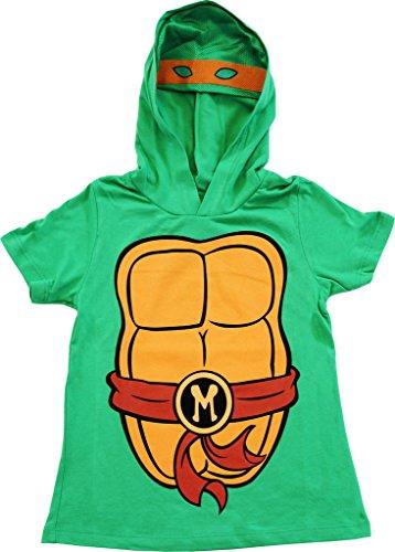TMNT Teenage Mutant Ninja Turtles I Am Mike Costume Tee Hoodie (Boys 7X/8)