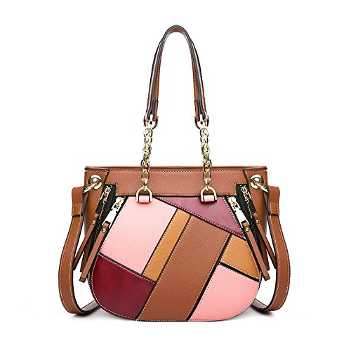 Messenger Classic Strip Designer Quality Handbags FZHLY Package Crossbody for Bags Shoulder Satchel Brown Color High Women qwcO88FW