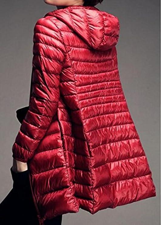 Da Ultra Lungo Pelo Invernali Leggero Cappotti Impacchettabile Con Donna E 1RqF4nwCBx