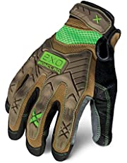 Ironclad EXO Project Impact Gloves, Large, Brown